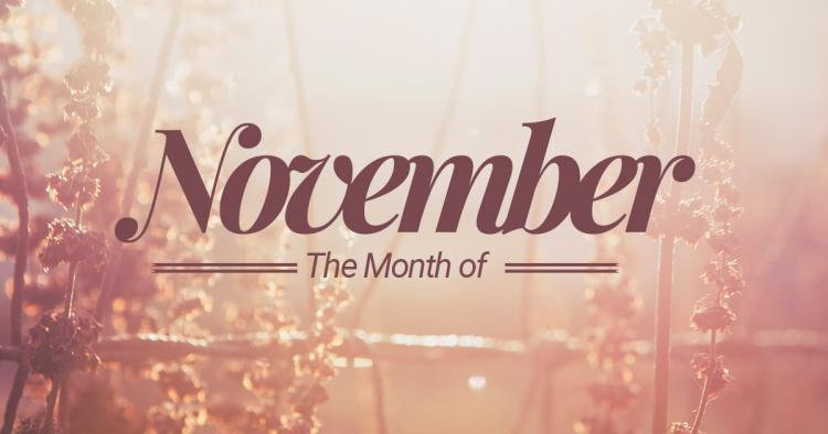 NOVEMBER EVENTS AND NEWS